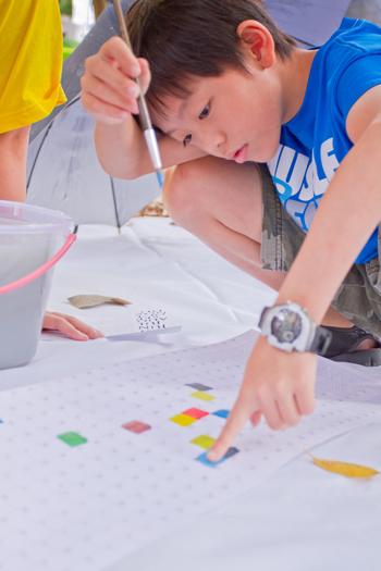 都市酵母 cityyeast 台北 台灣 水越 設計 agua design 周育如 政大 粉樂町 一片綠地的色彩裝置工作坊
