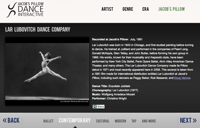 都市酵母, city yeast, taipei, taiwan, 線上舞蹈資料庫, dance, jacob's pillow dance interactive, 水越設計, AGUA Design